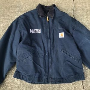 Carhartt men's work jacket lined size 48 blue